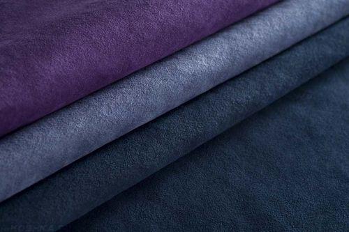 Три цвета ткани искусственной замши