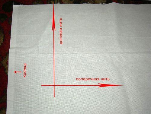 Определение направления долевой нити