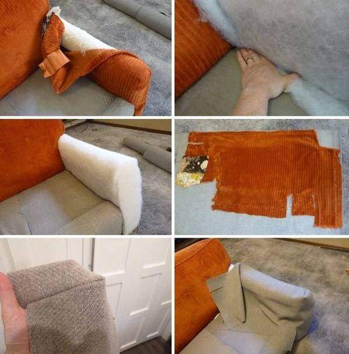 Обшивка дивана - пошаговое фото