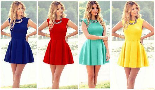 Платья разных оттенков