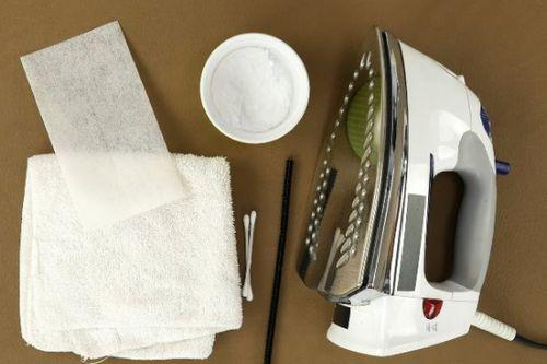 Подготовка утюга к чистке